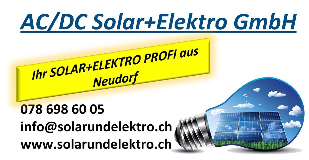 AC/DC Solar und Elektro GmbH ist Ihr Spezialist